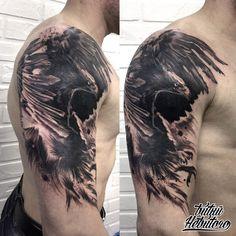 Biker Tattoos, Eagle Tattoos, Black Tattoos, New Tattoos, Cover Up Tattoos For Men, Tattoos For Guys, Tattoo Sleeve Designs, Sleeve Tattoos, Arm Tats