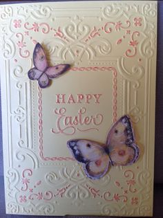 Anna Griffin mix & match embossing folder. Made by Mary Howe