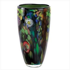 New Decorative Glass Art Vases Home Decor Accents | eBay