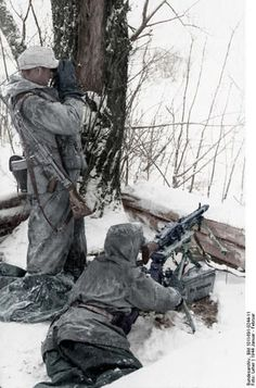 An advanced German Firebase somewhere in Russia, January/February 1944.: