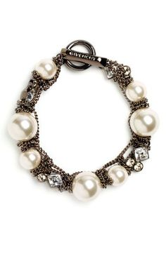 Givenchy 'Vanguard' Small Faux Pearl Bracelet