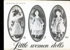 LITTLE WOMEN DOLLS Pattern Women's Day 1963 - New Vintage Studio