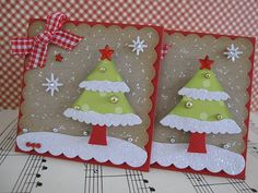 Winter Glittery Christmas Tree Embellishments by vsroses.com, via Flickr