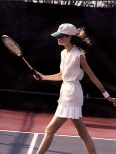 you can only look this chic on the court when you're not really playing. still, it's worth it sometimes.