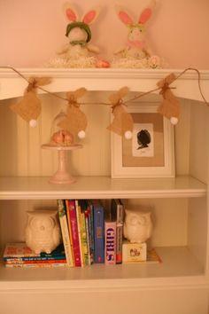 DIY - burlap bunny garland...doing this next year!