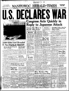 The attack on Pearl Harbor occurred on December and it was a complete surprise, considering the U. had remained neutral in World War II. Pearl Harbor newspaper accounts described that shocking event for the record books and. World History, World War Ii, Pearl Harbor Attack, Newspaper Headlines, Newspaper Article, Recorded Books, American History, Teaching, Pearls