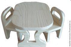 Купить стол и стулья - мебель для кухни, столик, стульчики, мебель ручной работы, кукольный стол