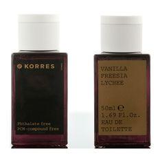 Korres Vanilla, Freesia & Lychee Eau De Toilette Spray 50ml