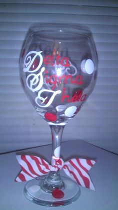Delta Sigma Theta Wine Glass