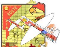 Graphic Illustrations for magazines by Daniela Guglielmetti, via Behance