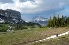 National Parks too crowded??  try this list of National Forests which DO allow dogs!  Backpacking the Teton Crest Trail in Caribou-Targhee National Forest's Jedediah Smith Wilderness.