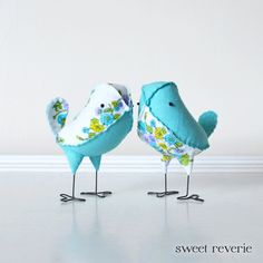 Wedding Cake Topper Birds  Mini Aqua Turquoise by asweetreverie, $45.00