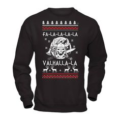 "Okay generally I do not post anything like this till AFTER Thanksgiving, but this is hilarious and it's one of those ""timed shirts"" that you only have so long to buy. So had to post it in case anyone wants one ^.~  https://represent.com/valhallaxmas"