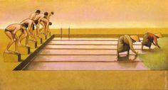 おなじプールでも貧富によって使い方は違う : 『画像』ポーランドのパウル・クチンスキーという人の風刺画。 - NAVER まとめ