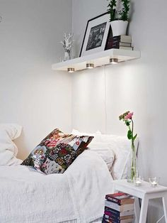 Lights underneath free up nightstand real estate - 30 Brilliant Ideas For Your Bedroom