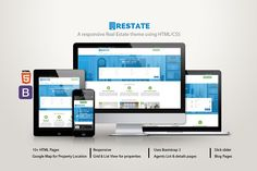 Restate - A Real Estate theme by DrupalThemez on @Graphicsauthor