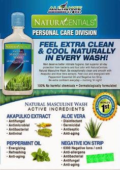 Naturacentials For Men - Feel Extra Fresh And Clean Naturally In Every Wash By AIM Global Business Heath Care, Immune System Boosters, Natural Cleaning Products, Natural Products, Complete Nutrition, Mentally Strong, Global Business, Make It Simple, Health And Wellness