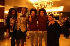 Braneka Bassett, Braylen Brooks, the Clemmons Twins and friend at Art House Nights by MDCI House at Mr. C's in Beverly Hills at Artist Robert Standish's exhibition of ORBS