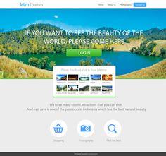 Design template website company profile for jatim tourism
