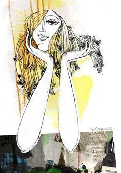 Fashion Illustration on Behance Nazanin Kani Projects To Try, Behance, Places, Illustration, Gold, Fashion, Moda, La Mode, Illustrations