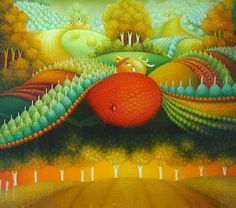 IVICA FISTER, Croatian Naive Art - My first mentor in the reverse glass painting technique, Ivica's artwork is known for it's rolling vineyards and animal-infused landscapes. Here one of his crying birds, though it was his butterfly landscapes which captured my imagination and inspired me to try this medium. #naiveart #croatiannaive #glasspainting #art #painting #artist #fineart #oilpainting #artwork #croatia #reverseglasspainting #originalart #originalartwork #landscape #uniqueart