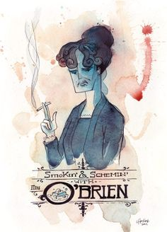 Downton Abbey Addicts: Downton Abbey Fan Art Wednesday. Smokin' and Schemin' with O'Brien.