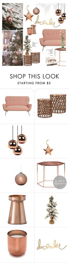 """""""Copper mood 4/December Decor"""" by helenevlacho on Polyvore featuring interior, interiors, interior design, home, home decor, interior decorating, Tom Dixon, Bloomingville, Winward and Jonathan Adler"""