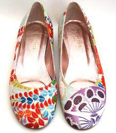 Haruku ballet flats by Hetty Rose - made from vintage Kimono fabrics ...