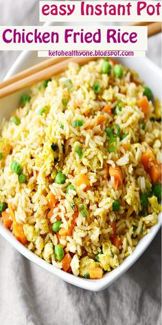 easy Instant Pot Chicken Fried Rice #easy #InstantPot #Chicken #FriedRice#easyInstantPotChickenFriedRice