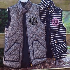 Marley Lily monogrammed vests.
