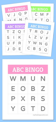 Printable Bingo Cards Kids ABC Alphabet Bingo - great for learning the alphabet, also available as a free online game.Kids ABC Alphabet Bingo - great for learning the alphabet, also available as a free online game. Preschool Literacy, Kindergarten Games, Preschool Letters, Free Preschool, Letter Recognition Kindergarten, Abc Bingo, Alphabet Bingo, Alphabet Worksheets, Toddler Activities