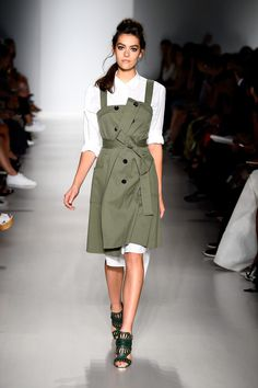 A model walks the runway with TRESemme at the Marissa Webb fashion show during Mercedes-Benz Fashion Week Spring 2015 at The Salon at Lincoln Center on September 4, 2014 in New York City.