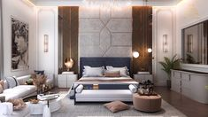 Neoclassic master bedroom design in kSA on Behance Luxury Bedroom Design, Master Bedroom Interior, Modern Master Bedroom, Home Room Design, Master Bedroom Design, Interior Design, Minimalist Bedroom, Bedroom Designs, Bedroom Furniture