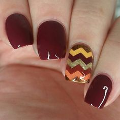 "4,737 aprecieri, 19 comentarii - Whats Up Nails (@whatsupnails) pe Instagram: ""Adorable Thanksgiving nails by @nailstorming using Whats Up Nails regular zig zag tape from…"""
