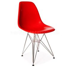 *Set+of+2*+High+Quality+Eames+Style+DSR+Dining+Side+Chair+-+Red