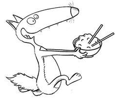 100 meilleures images du tableau loup qui voulait faire le tour du monde - Coloriage loup rigolo ...