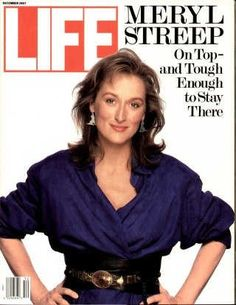 """Meryl Streep ~ Dec. 1, 1987 issue ~ Old Life Magazines ~ Click image to purchase. Enter """"pinterest"""" at checkout for a 12% discount."""