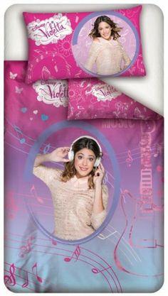 Disney Violetta Coordinato Parure Letto Singolo Sacco Copripumino, Federa , per Cameretta Bambina - TocTocShop.com -