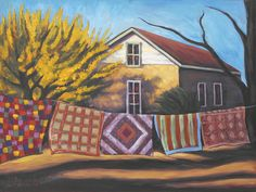 Carolines Quilts Painting by Gina Grundemann