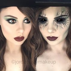 Good Vs Evil Witch Makeup
