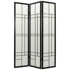 Hinaga Japanese Shoji Screen (Black Finish)    Our Hinaga (long day) Japanese Shoji screen is a contemporary version of the earlier Edo period screens. Here it is done with a clever geometric pattern that creates an art deco look.