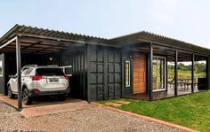 Shiping Container Homes, Cargo Container Homes, Storage Container Homes, Building A Container Home, Container Buildings, Container Architecture, Container Cabin, Sustainable Architecture, Shipping Container Home Designs