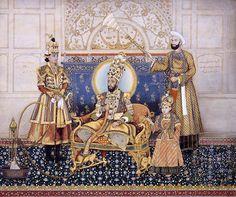 The Emperor Bahadur Shah II Enthroned  India, Delhi, Mughal, 18th century