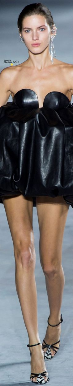 Saint Laurent Spring 2018 RTW Sexy Cocktail Dress, Cocktail Dresses, Valery Kaufman, French Fashion Designers, Fashion History, Elegant, Ysl, Leather Fashion, Couture Fashion