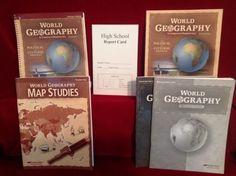 Abeka world geography book teacher key map studies set abeka world geography teacher ed student bk map key quizzes key cardgr 9 gumiabroncs Images