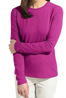 Coolibar berry Women's Cotton T-shirts UPF sun protection, soft, light and breathable Upf Clothing, That Look, Take That, Free Advertising, Soft Light, Bullshit, Sun Protection, Get Dressed