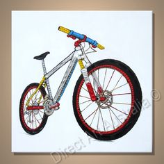 Pretty Bicycle Painting, Price: $149.00,  Availability: Delivery 10 - 14 days,  Shipping: Free Shipping,  Minimum Size: 50 x 60cm,  Maximum Size: 90 x 120cm,  Up to 70% cheaper than mainstream galleries who pay agent commissions and gallery overheads.  http://www.directartaustralia.com.au/