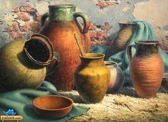 نقاشی مداد رنگی Still Life Drawing, Painting Still Life, Still Life Art, Fruit Painting, Wine Art, Indigenous Art, Pottery Painting, Art Drawings Sketches, Pictures To Paint