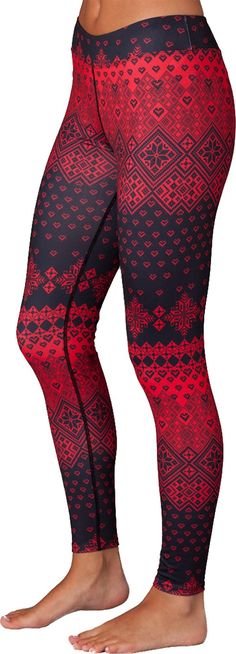 The women's Snow Angel Slimline Flatter-Fit long underwear leggings keep you warm in the cold with moisture-wicking fabric. Staying warm in chilly weather! Cute Leggings, Tight Leggings, Winter Leggings, Print Leggings, Winter Gear, Winter Coats, Fall Winter, Long Underwear, Ski Wear