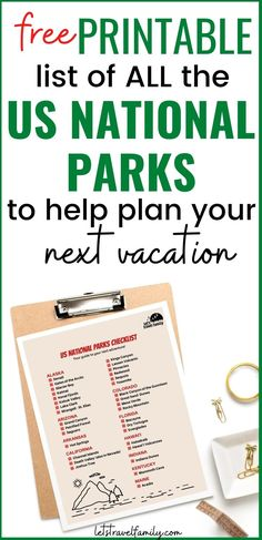 Free printable list of all the US National Parks to help you plan your next family vacation. Take a road trip this summer to one of the famous National Parks such as Glacier National Park or Yellowstone. And check off your bucket list. #nationalparks #usnationalparks #bucketlist List Of National Parks, Great America, Us Road Trip, Free Printables, This Is Us, How To Plan, Bucket, Summer, Rv Camping